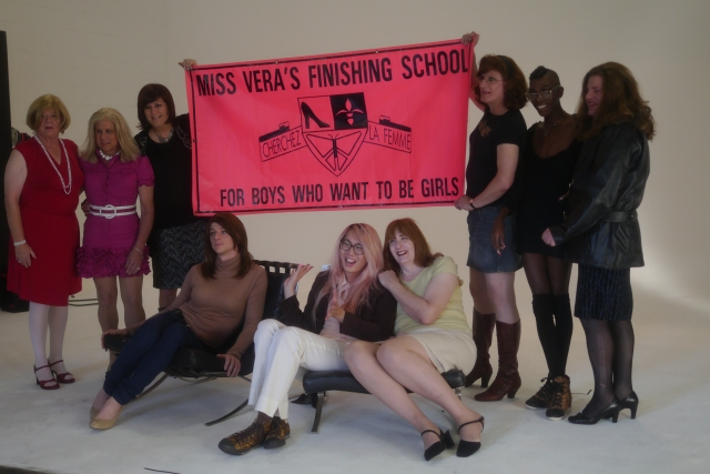 Miss Vera's Academy students and friends pre-makeovers for Candy, the transversal style magazine, 10/2013.