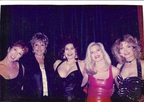 (L to R)Annie Sprinkle, Gloria Leonard, Veronica Vera, Candida Royalle, Veronica Hart)