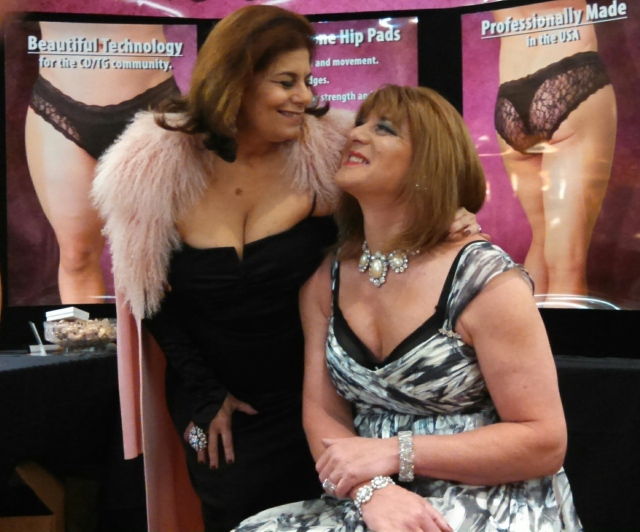 Miss V and Ginger Liscious in vendor area, Southern Comfort Conference 2014.
