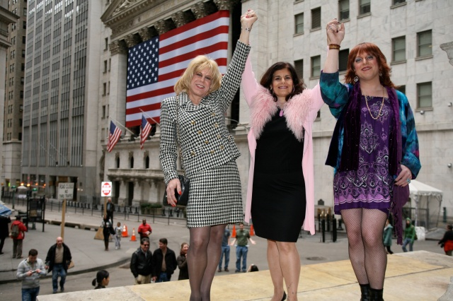 Rita Petite, Miss Vera, Misty Madison on Wall Street.